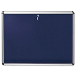Nobo A0 Visual Insert Board Lockable W1255xH965mm Blue Ref 1902049