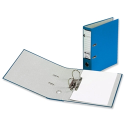Rexel Karnival Lever Arch File Paper over Board Slotted 70mm A4 Blue Ref 20743EAST - Pack 10