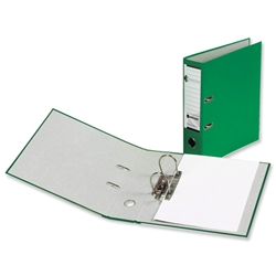 Rexel Karnival Lever Arch File Paper over Board Slotted 70mm A4 Green Ref 20744EAST - Pack 10