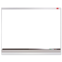 Nobo Platinum Plus Drywipe Board Enamel Magnetic and Fixings Markers 1800x1200mm Aluminium Ref 1902685
