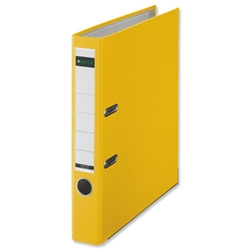 Leitz Mini Lever Arch File Plastic 50mm Spine A4 Yellow Ref 10151015 [Pack 10]