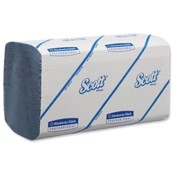 Scott Performance Hand Towels Interfolded 180 Towel Sleeves Blue Ref 6660 - Pack 15