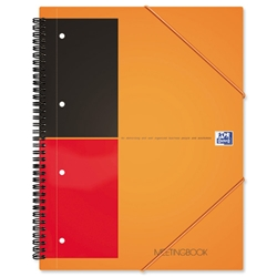 Oxford International Organiser Book 2 Wire 2 Margin Ruled 6 Dividers 160pp A4+ Ref 100100462 - Pack 5