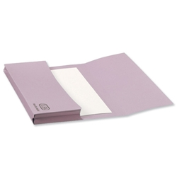 Elba Document Wallet Half Flap 310gsm Capacity 30mm Foolscap Mauve Ref 100090240 [Pack 50]