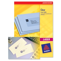 Avery L7551 Laser Mini Labels Address 38.1x21.2mm Clear Ref L7551-25 - Pack 1625
