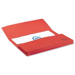 Elba Bright Manilla Document Wallet 285gsm Capacity 32mm Foolscap Red Ref 100090270 [Pack 25]