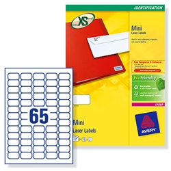 Avery L7651 Laser Mini Labels Address White 38.1x21.2mm Ref L7651-25 - Pack 1625