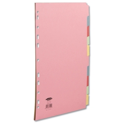 Concord Subject Dividers 230 Micron 10-Part A4 5 Colours Ref 72099/J20 - Pack 25