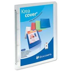 Exacompta Kreacover A4 Ring Binder Polypropylene 15mm 4-Ring Clear Ref 51968E - Pack 12 - Item image