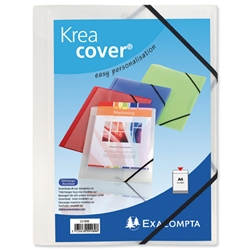 Exacompta Kreacover 3-Flap Elasticated Folder Polypropylene Clear Ref 55188E - Pack 25 - Item image