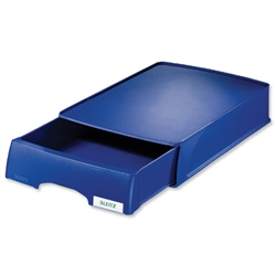 Modular Single Drawer Unit Polystyrene Stackable A4 Plus Blue
