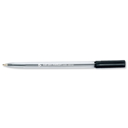 5 Star Ball Pen Clear Barrel Medium 0.3mm Line Width Black Ref 295187 - Pack 50