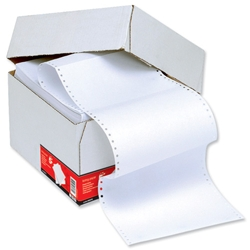 5 Star Office Listing Paper 1-Part Stub Perforated 70gsm 12inchx235mm Plain - 2000 Sheets
