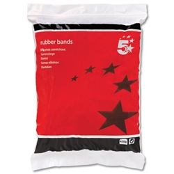 5 Star Rubber Bands No.64 89x6mm 0.45kg 330 Bands - 1 bag