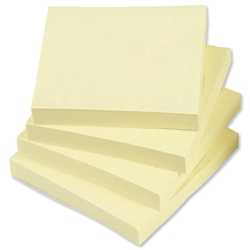 5 Star Re-Move Notes 76x76mm Yellow - Pack 12