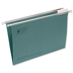 5 Star Suspension File Manilla Heavyweight with Tabs and Inserts Foolscap Green Ref 100331398 - Pack 50- 4DRAW