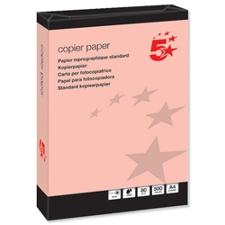 5 Star Multifunctional Office Coloured Copier Paper Ream-Wrapped 80gsm A4 Pink - 500 Sheets