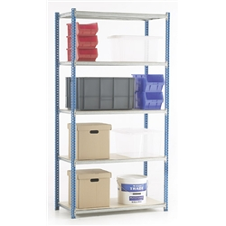 Trexus Quick Shelf System Initial Bay Boarded W1000xD500xD2000mm Ref QS1B - Item image