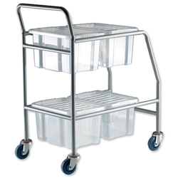 Trexus Quick Shelf System Container Storage Trolley with 4 Boxes w4bx Ref QST - Item image