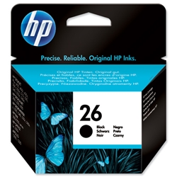 Hewlett Packard HP No. 26a Black Inkjet Print Cartridge 40ml for DeskJet 400 & 500 Series Ref 51626AE