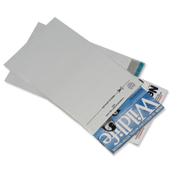 Postsafe LightWeight Envelopes Polythene White Opaque C4 W235xH310mm Peel and Seal Ref PL23 - Pack 100