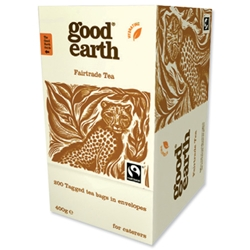 Good Earth Envelope Tea Bags Fairtrade Ref 1338A - Pack 200 - Item image