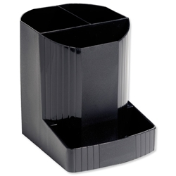 Exacompta Eco Pen Box Recycled Plastic W123xD90xH110mm Black Ref 675014D - Item image