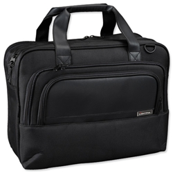 Lightpak Executive Laptop Bag Padded Top Load Muti-section Nylon Capacity 17in Black Ref 46100 - Item image