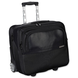 Lightpak Executive Trolley with Detachable Laptop Sleeve Nylon Capacity 17in Black Ref 46101
