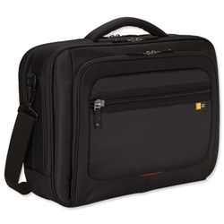 Case Logic Corporate Laptop Case Nylon with Shoulder Strap Capacity 16in Black Ref ZLC116 - Item image