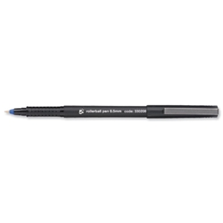 5 Star Rollerball Pen Fine 0.3mm Blue - Pack 12