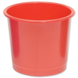 5 Star Office Waste Bin 14 Litres D304xH254mm Red