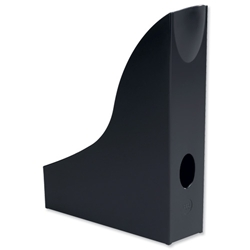 Durable Vivid Magazine Rack Plastic with Thumb Hole Black Ref 1701711060 - Item image