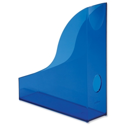Durable Radiance Magazine Rack Plastic with Thumb Hole Translucent Blue Ref 1701712540 - Item image