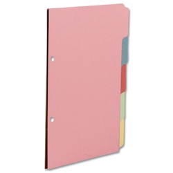 Concord Subject Dividers 230 Micron 5-Part A5 Ref 70599/J5 - Pack 20