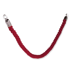 Vermes Classic Velour Rope Red with Stainless Steel Spring Clip Ends Ref RS-CLRP-CH-Red