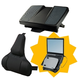 Save-36.37-on-Fellowes-Ultimate-Back-Support-and-Foot-Support---Free-Laptop-Workstation-now-just-77.38-at-UK-Office-Direct