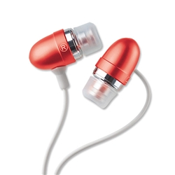 TDK MCR300 In-Ear Silicon Tip Headphones Red Ref MCR300 - Item image