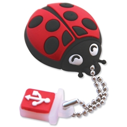 TDK Flash Drive USB 2.0 with Soft Silicon Rubber Housing 4GB Ladybird Ref t78642 - Item image