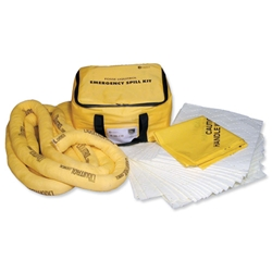 Fosse Maintenance Spill Kit Cube of Pads Socks Gloves Goggles and Bag for 35 Litre Spill Ref M-35-CB