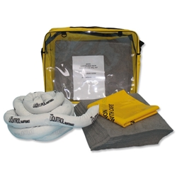 Fosse Maintenance Spill Kit Shoulder Sack Pads Socks Gloves Goggles Bag for 50 Litre Spill Ref M-50-VK