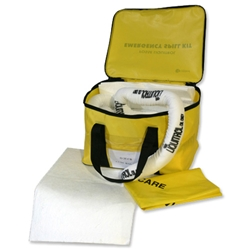Fosse Oil-only Spill Kit Cube of Pads Socks Gloves Goggles and Bag for 35 Litre Spill Ref O-35-CB