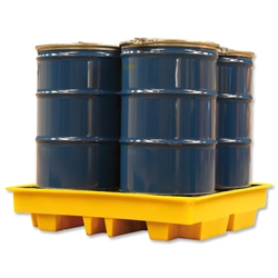 Fosse Chemical Spill Pallet Heavy Duty Polyethylene Removable Decking Four Drum 4 x 205 Litre Ref FSC4DSP