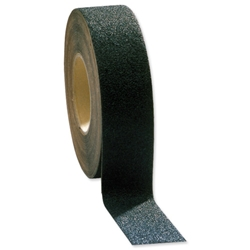 COBA Grip-Foot Tape Anti-slip Grit Surface Hard-wearing W25mmxL18.3m Black Mat Ref GF010001