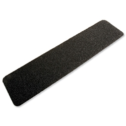 COBA Grip Foot Tape Tile Grit Surface Hard-wearing W152xD610mm Cleat Black Ref GF010006 - Pack 10