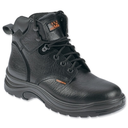 Sterling Work Site Safety Boots Steel-toe Shock-absorbant Leather Size 10 Black Ref SS604SM10