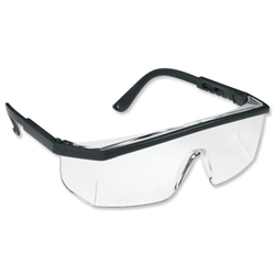 Spectacles Wraparound Polycarbonate Clear Lens