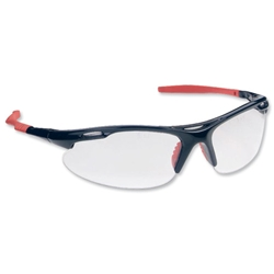 Martcare M9700 Sports Spectacles Clear Lens Black/Red Ref ASA748-161-100