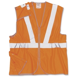 Portwest High Visibility Railtrack Waistcoat Vest Polyester Anti-tangle Medium Orange Ref RT20MED