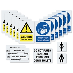 Washroom Signage Kit Unisex Multiple Signs